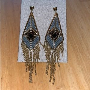 Stella & Dot Aiyana fringe earrings, Gold